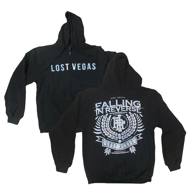 Falling In Reverse Lost Vegas Zip Up Hoodie (Black)