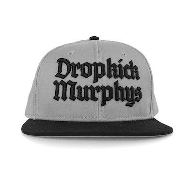 Dropkick Murphys Gothic Logo Snapback (Grey/Black)
