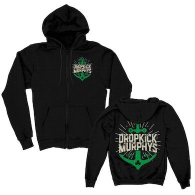 Dropkick Murphys Anchor Zip-Up Hoodie (Black)