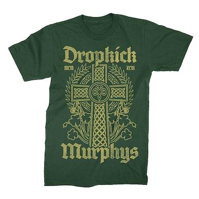 Dropkick Murphys Celtic Cross Tee (Forest Green)