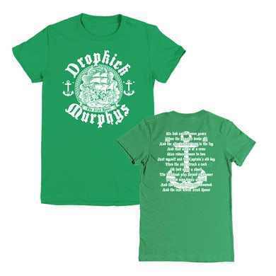 Dropkick Murphys Irish Rover Womens Tee (Kelley Green)