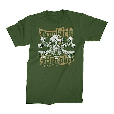 Dropkick Murphys Punk Jolly Roger T-Shirt (Green)