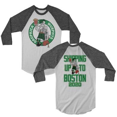 Dropkick Murphys Shipping Up to Boston 2020 Raglan (White/Onyx)
