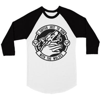 The Ghost Inside Run With Wolves Baseball Tee (White/Black)