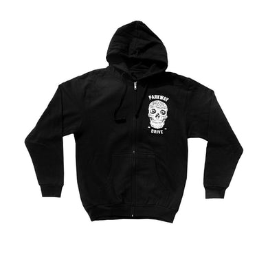Parkway Drive 2016 Skull Zip Up Sweater (Black)