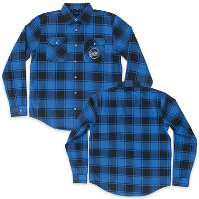 Parkway Drive Script Logo Patch Flannel (Blue/Black)