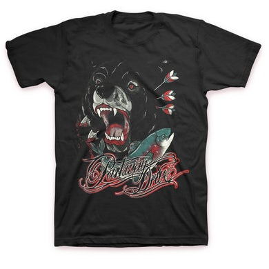 Parkway Drive Bear And Salmon T-Shirt (Black)