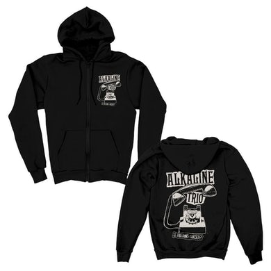 Alkaline Trio Distressed Phone Zip Up Hoodie (Black)