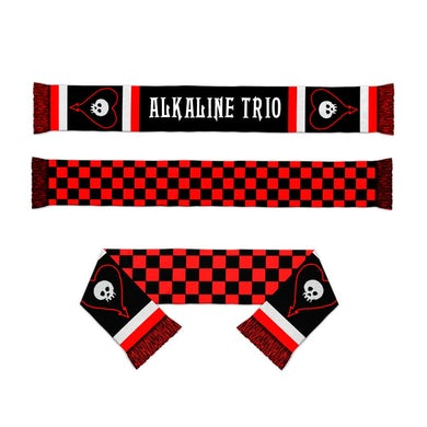 Alkaline Trio Heartskull Checker Scarf