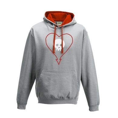 Alkaline Trio Heartskull Pullover Hoodie (Heather Grey)