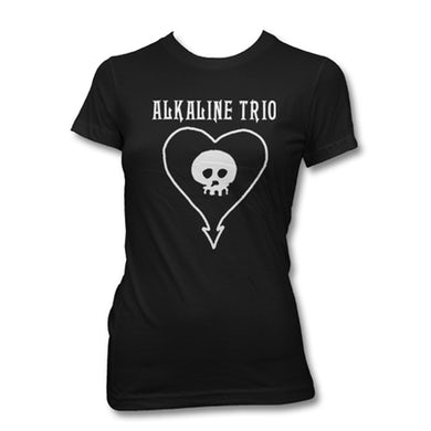 Alkaline Trio Classic Heartskull Womens Tee