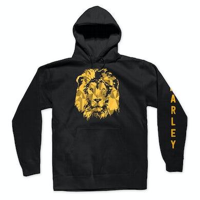 Ziggy Marley Gold Lion Pullover Hoodie (Black)