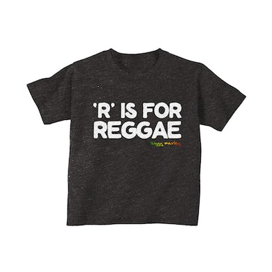 Ziggy Marley R is for Reggae Toddler Tee (Charcoal Blk Heather)