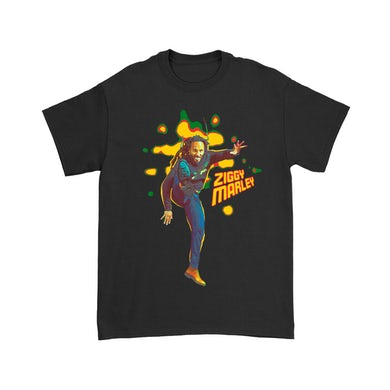 Ziggy Marley Kick T-Shirt (Black)