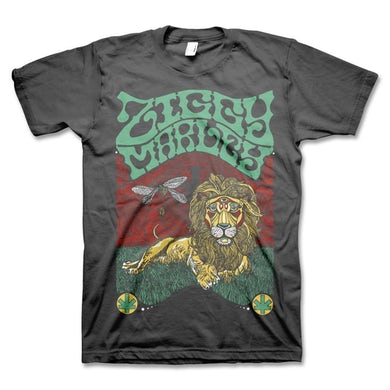 Fly Rasta Lion Tee - (Charcoal)