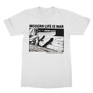 Modern Life Is War Cracked Tee (White)
