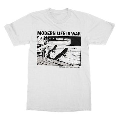 Modern Life Is War Cracked Tee (White)