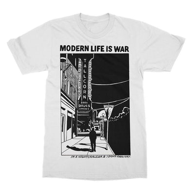 Modern Life Is War Night Crawler Tee (White)