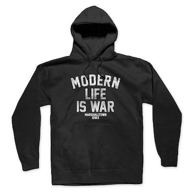 Modern Life Is War Standard Logo Pullover Hoodie (Black)