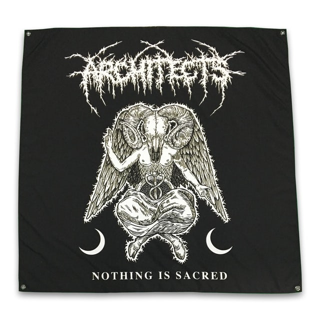 "Architects Nothing Is Sacred Flag (48"" x 48"")"