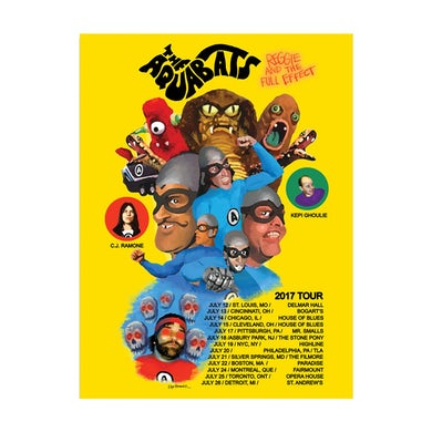 The Aquabats 2017 Tour Poster