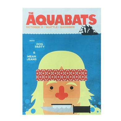 The Aquabats Jaws Tour Poster Seattle 10/19