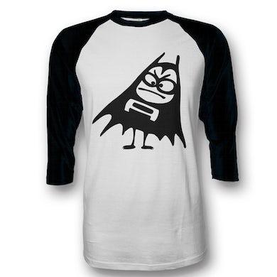 The Aquabats Bat Logo Raglan (White/Black)