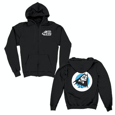 The Aquabats Stacked Logo Zip Up Hoodie (Black)