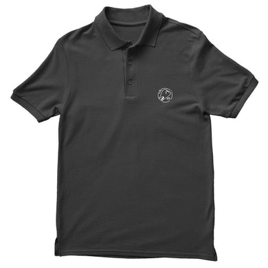 Joyce Manor Tooth Embroidered Polo (Black)