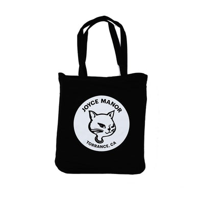 Joyce Manor Winking Cat Tote Bag (Black)