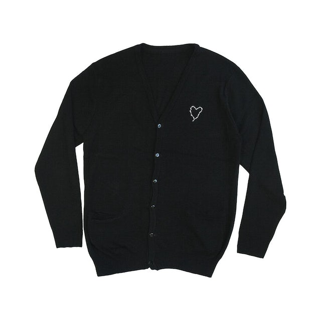 Frank Iero Barbed Wire Heart Cardigan (Black)