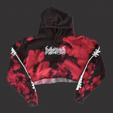 Crucifix Women's Crop Top Sweatshirt (Bloodlet)