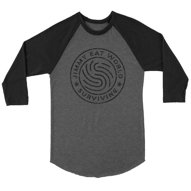 Jimmy Eat World Surviving Emblem Raglan (Black/Grey)