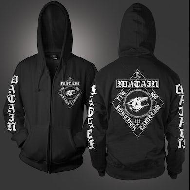Watain Forever Lawless Zip Up Hoodie (Black)