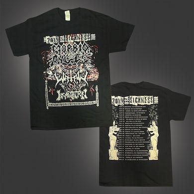 Watain 2019 USA Sickness Tour T-Shirt (Black)