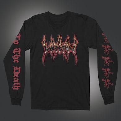 Watain Fire Logo Long Sleeve T-Shirt (Black)