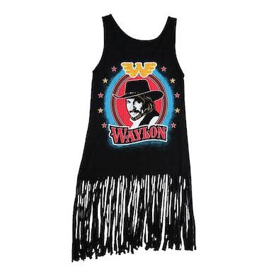 Waylon Jennings Bullseye Fringe Tank (Black)