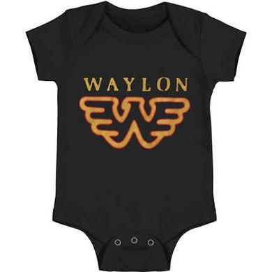 Waylon Jennings Flying W Onesie (Black)