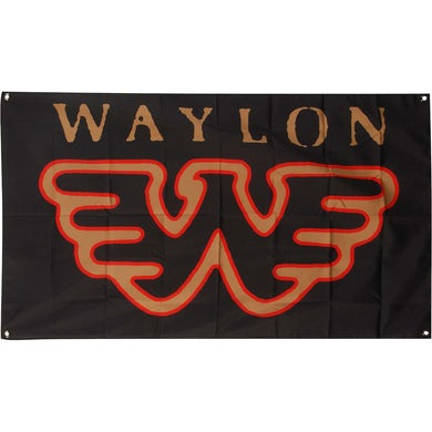 Waylon Jennings Flying W Flag