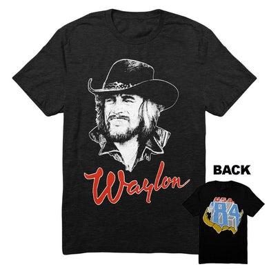 Waylon Jennings Draw 84 Tee (Black)