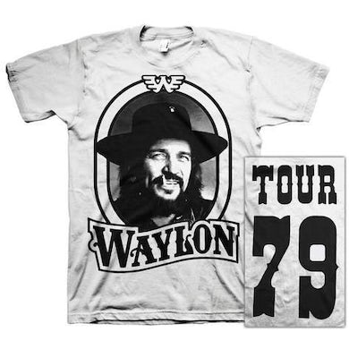 Waylon Jennings 79 Tour Tee (White)