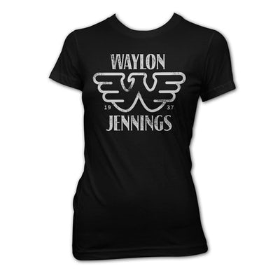 Waylon Jennings Flying W Women's Tee (Black)