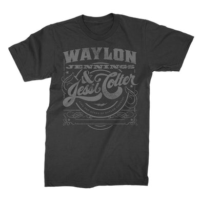 Waylon Jennings King & Queen Tee (Black)