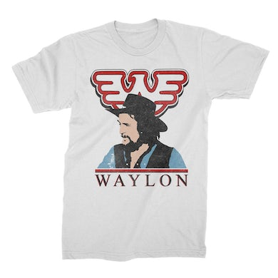 Waylon Jennings Colorized Tee (White)