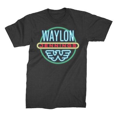 Waylon Jennings Neon Tee (Black)