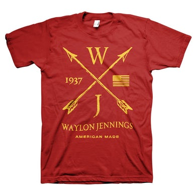 Waylon Jennings Arrows Tee (Red)