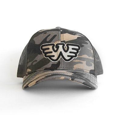 Waylon Jennings W Logo Hat (Camo)