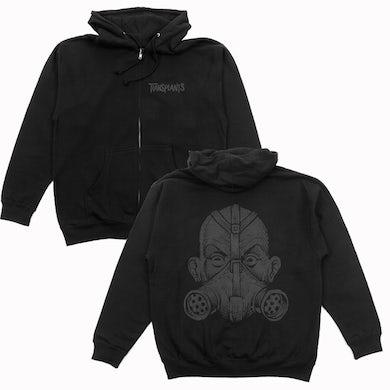 The Transplants Gas Mask Zip Up Sweatshirt (Black)