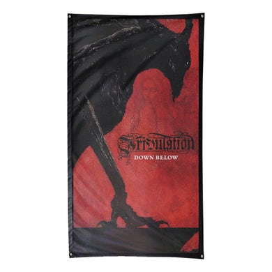 "Tribulation Down Below Flag (59"" x 33"")"