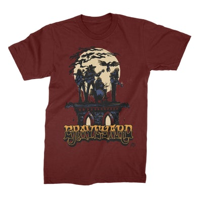 Graveyard Moonband T-Shirt (Burgundy)